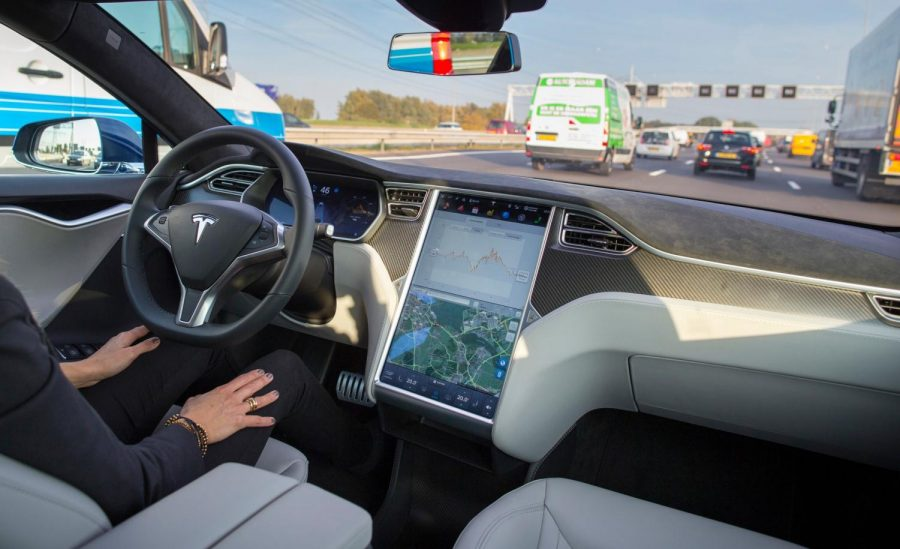 Self-driving cars, such as this Tesla Model S, have been involved in multiple crashes in recent years.
