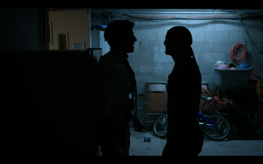 Daredevil+and+Agent+Nadeem+face+off.+