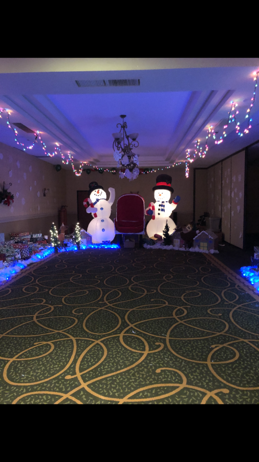 The Santa Room was a hit for the kids attending the FOP party.