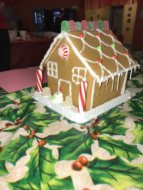 Participants were able to decorate gingerbread houses at the Gingerbread House Event.