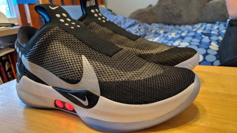 The Nike Adapt BBs powered on.