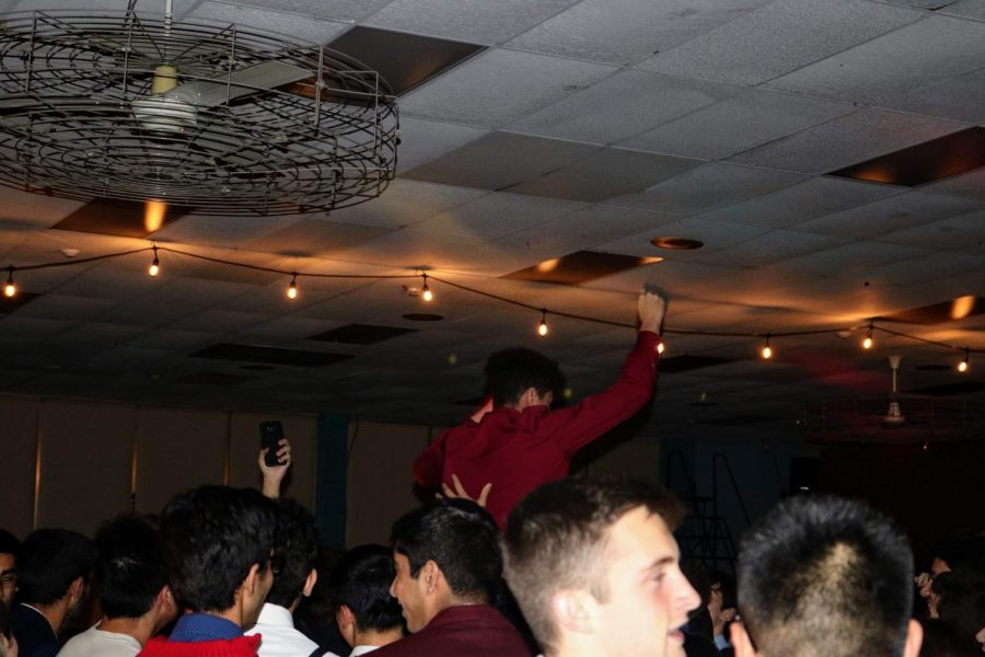 Students celebrate and enjoy their time at the homecoming dance
