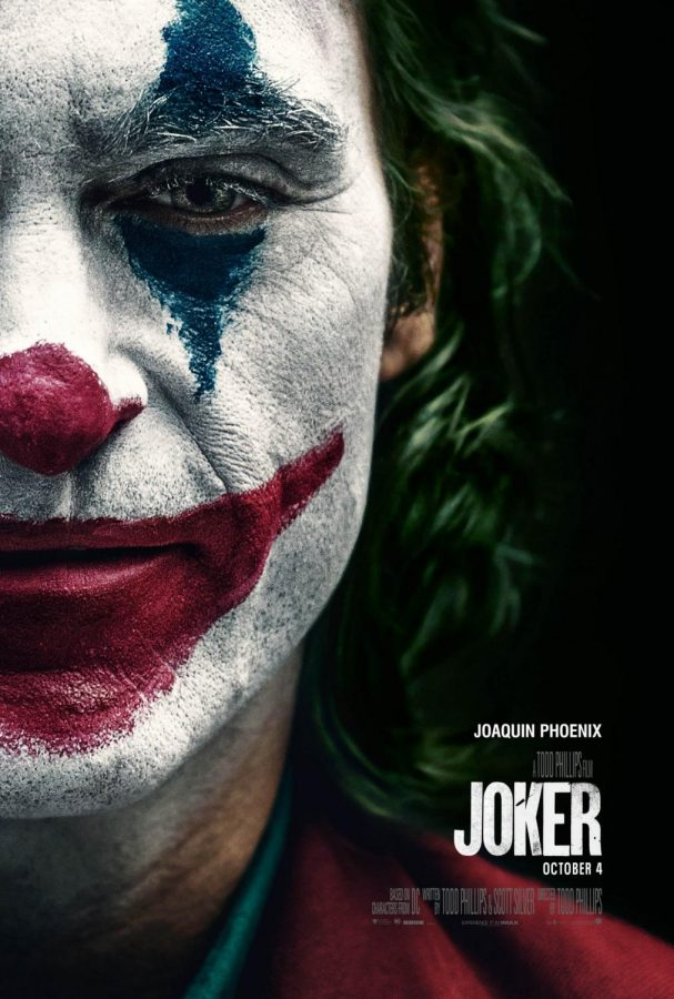 The+movie+poster+for+The+Joker+reflects+the+overall+eeriness+of+the+movie