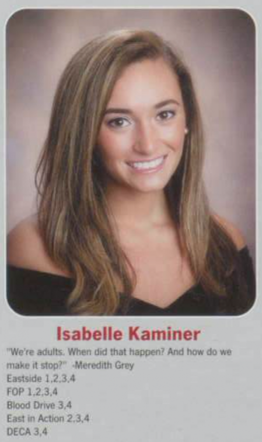 Isabelle Kaminer graduated in 2015.