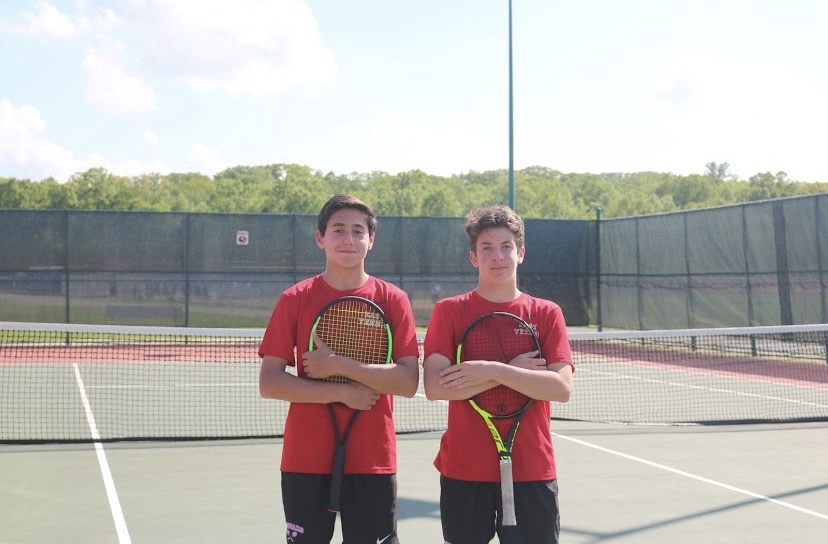 Best+friends%2C+Nathan+Belitsky+%2822%29+and+Brett+Schuster+%2822%29%2C+helped+to+win+the+first+sectional+championship+in+years.+++