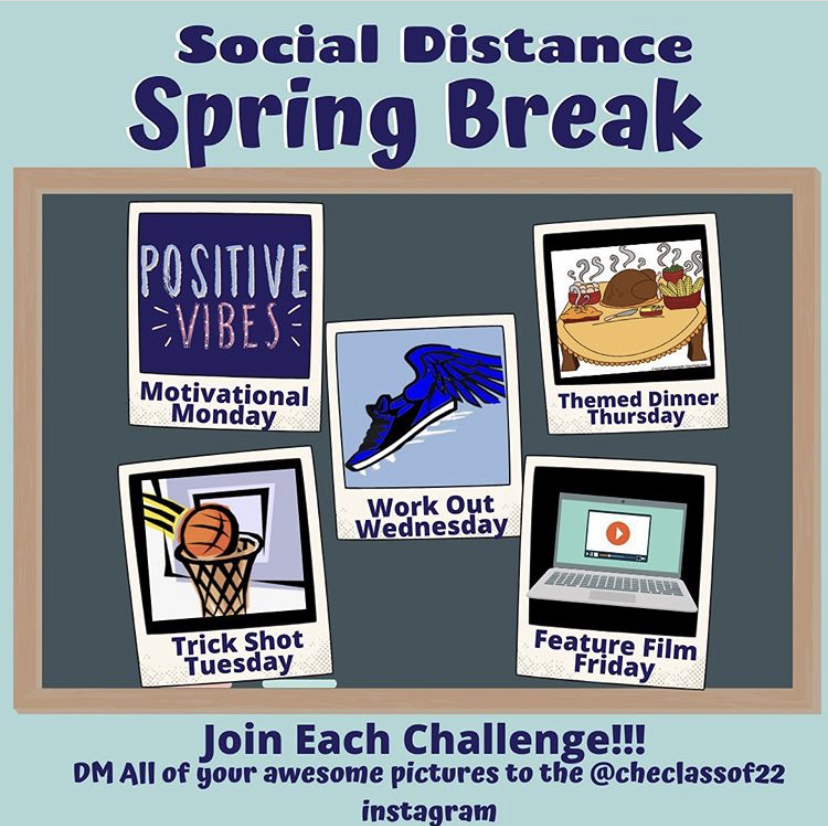 The president and vice presidents for the Class of 2022 hope that their class participates in the Social Distance Spring Break Challenge.