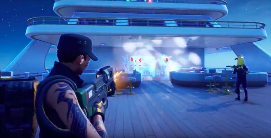 Screen shot of Fortnite playing.