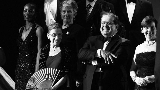 It was their love of opera that started the friendship between Ruth Bader Ginsberg and Antonin Scalia as the two appear on stage to watch the 2009 production of 'Ariadne auf Naxos.'