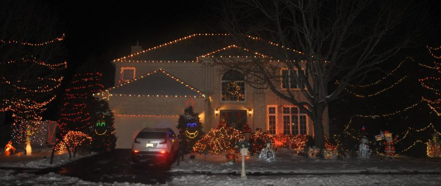 133 Renaissance Drive was one of the many houses to enter into the holiday lights contest.