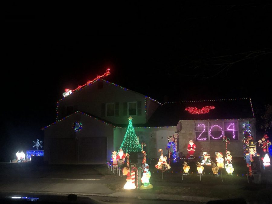 204 Sandringham Road was one of the many houses to enter into the holiday lights contest.