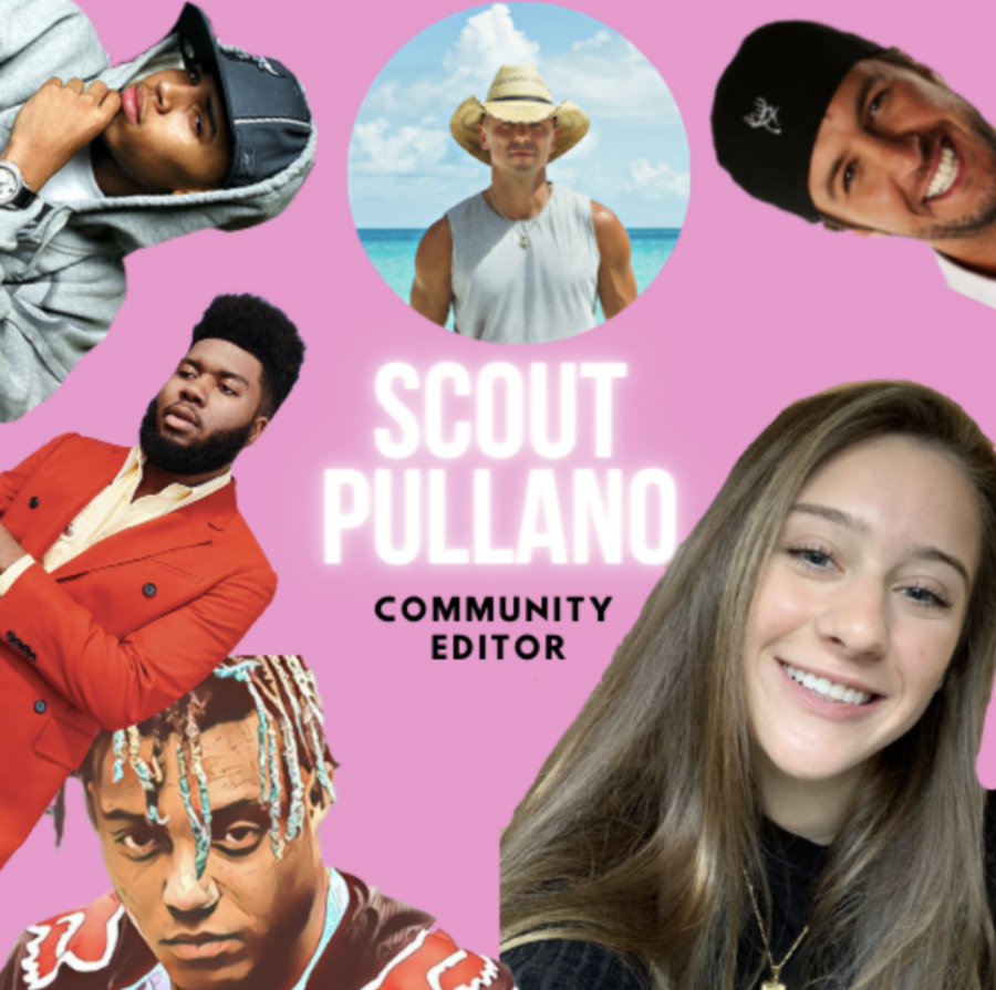 Scout Pullano ('22) enjoys many different types of music by all different musicians.