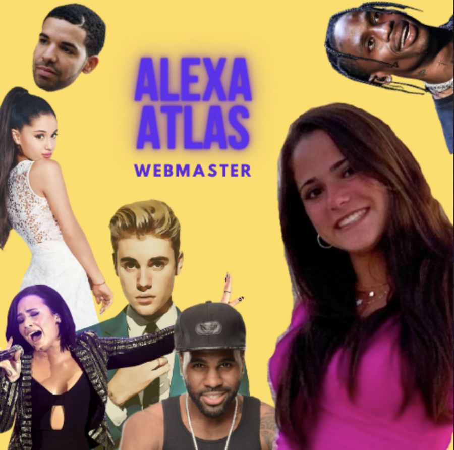 Alexa Atlas ('22) enjoys many different types of music by all different musicians.