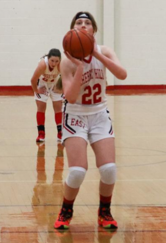 Lily Quintero gets ready to sink a free throw against Eastern.