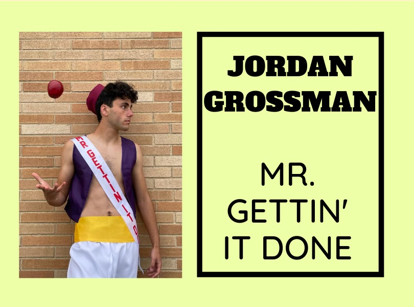Jordan Grossman ('21) is very excited for the 2021 Mr. East competition.