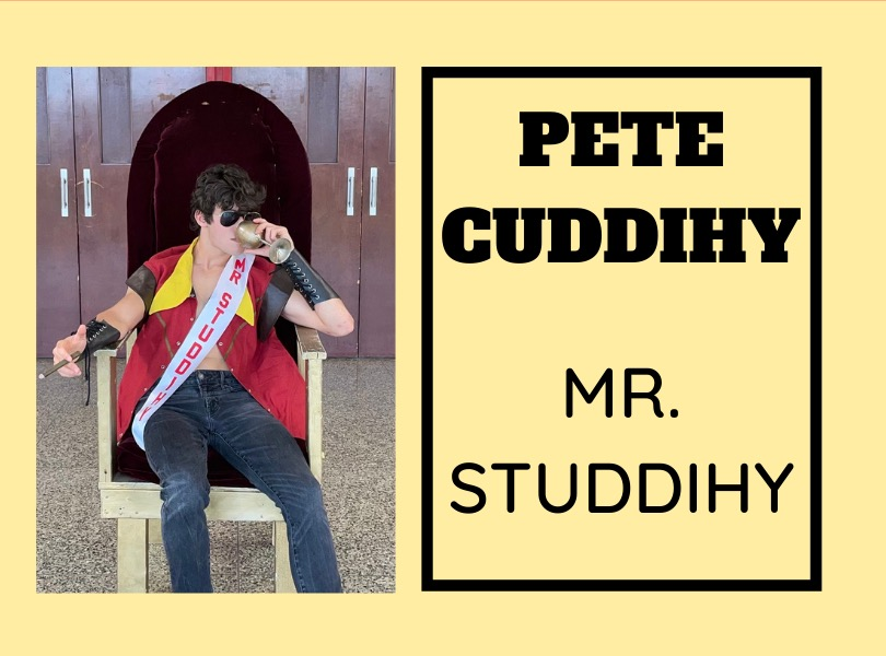 Pete Cuddihy ('21) is ready to compete in the 2021 Mr. East competition.