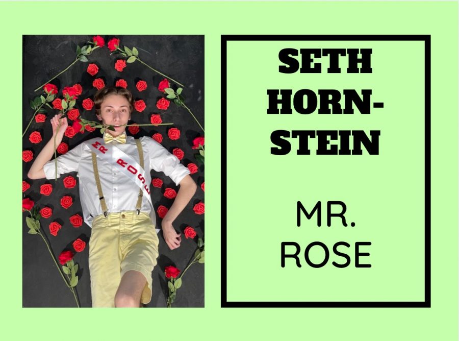 Seth Hornstein (21) cannot wait to show everyone his incredible Mr. East act.