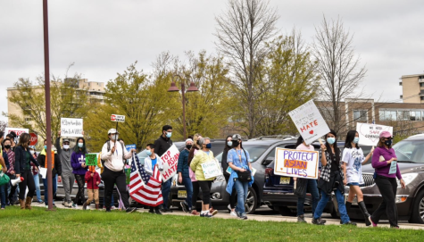 Organized by the Asian American Alliance in South Jersey, community members congregated at the Cherry Hill Public Library to march against anti-asian violence.