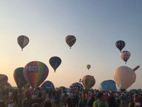 Up to 100 vibrant air balloons ascended each morning and evening during the New Jersey Lottery Festival of Ballooning.
