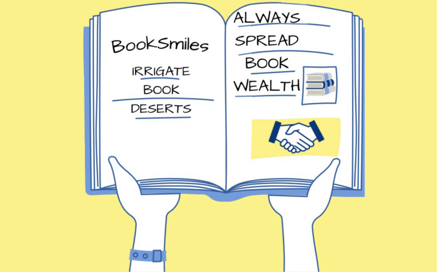 The BookSmiles organization spreads brotherly love by providing books for underprivileged students.