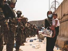 U.S. troops help evacuate Afghan citizens from Kabul.