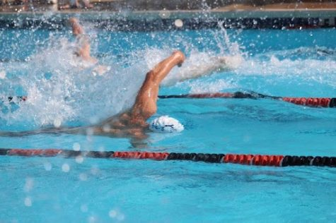 Nick Pezzella swimming in a meet